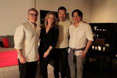 Camerich LA owners Michael Lin and Stephen Bianchi with LeAnn Rimes and Eddie Cibrian. #camerichla #dinner24 #leannrimes #eddiecibrian