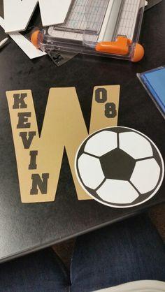 Locker decorations for soccer :)