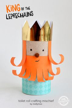 Toilet Roll Leprechaun King Craft