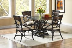 Largo Furniture Turks Isle 5 Piece Dining Set in Brown Cane - - Lowest price online on all Largo Furniture Turks Isle 5 Piece Dining Set in Brown Cane - Largo Furniture, Dining Room Furniture, Table Furniture, Outdoor Furniture Sets, 3 Piece Dining Set, Dining Room Sets, High Dining Table, Kitchen Dining, Side Chairs