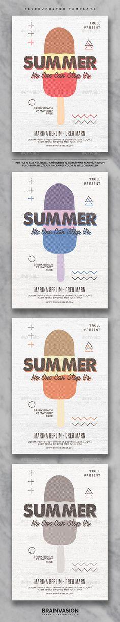 Summer Flyer/Poster Template Vol.01 — Photoshop PSD #best seller #8.3x11.7 • Download ➝ https://graphicriver.net/item/summer-flyerposter-template-vol01/19600236?ref=pxcr