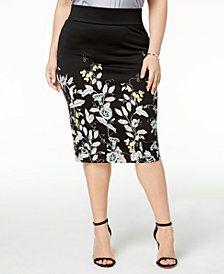 925d6f04ea Alfani Plus Size Scuba Midi Skirt, Created for Macy's | Plus Size ...