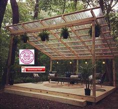 Deck Plans 473159504601064308 - Covered Deck Plan/Covered Patio Plan/Covered Shelter Plan/Covered Veranda Plan/Grill Shelter Plan/Deck Plan/Wood Deck Plan/Pavilion Plan/PDF Source by Lean To Greenhouse, Greenhouse Plans, Gazebo Plans, Backyard Patio Designs, Backyard Landscaping, Backyard Pavilion, Patio Ideas, Backyard Plan, Backyard Decks