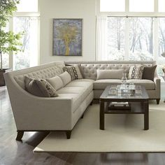 Found it at Wayfair - Westphalia Sectional. For the formal living room? Living Room Decor Curtains, Living Room Sofa, Living Room Interior, Sofa Furniture, Living Room Furniture, Wooden Furniture, Antique Furniture, Natural Furniture, Furniture Removal
