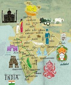 mapa cultural de la India