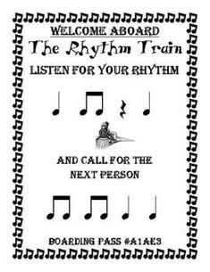 The Rhythm Train Game - Ta, Ti-Ti & Rest - Kodaly