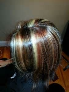 Tri Color Highlights On Shoulder Length Hair Stylist Wendy