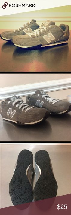 New Balance Womens Grey Suede Athletic Shoes SZ 8 EUC New Balance Womens Grey Suede Athletic Shoes SZ 8 CW442 shoes. These shoes feature a leather or synthetic upper in a variety of fresh colorways. Mesh lining offers breathable comfort. A removable insole accommodates orthotics. The rubber outsole provides lasting traction and wear. * Color: Gray * Width: Medium * Style: Athletic * Material: Regular suede upper and man-made outsole * Toe shape: Round * Heel height/type: 1-inch * Sole…