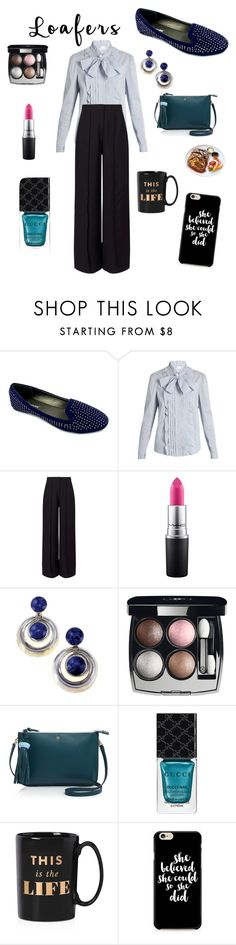 """""""Loafers"""" by unpocoboho on Polyvore featuring Ositos Shoes, RED Valentino, Miss Selfridge, MAC Cosmetics, Chanel, Tory Burch, Gucci, Kate Spade and French Toast"""