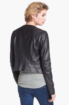 Hinge® Draped Suede & Leather Jacket | Nordstrom