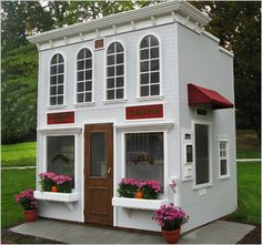 Lilliput Play Homes Custom Homes Bank with a drive up atm!!!!