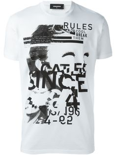 "Dsquared2 playera ""Dyed Rules"""