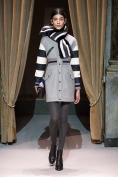 Look 24 from Fay Women's Fall - Winter 2014/15 collection seen on the catwalk.