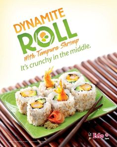 Edo Japan's Dynamite Roll Tempura, Sushi, Centre, Rolls, Japan, Recipes, Food, Kitchens, Bread Rolls