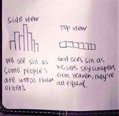 Understanding human perspective vs God's perspective - so simple and clever!