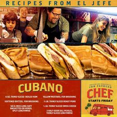See Jon Favreau's CHEF starting tomorrow (9/19/14)! Here is a mouth watering recipes from El Jefe! http://mpcws.com