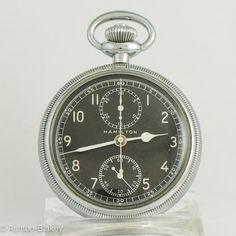 HAMILTON MODEL 23 MILITARY CHRONOGRAPH Pocket Watch