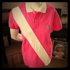 Ralph Lauren Golf Polo Hot Pink Sz L Ralph Lauren Golf Polo Hot Pink Sz L         Great Condition Polo Washed Not Worn Ralph Lauren Tops