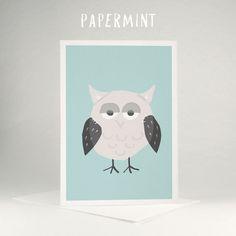 Owl illustration / card by Papermint Cats Illustration by Papermint cards #owly #owl #papermint #illustration #mothers_day_card #kids_happy_birthday_wishes #cards_for_kids #mothers_day_greetings_messages #greeting_of_the_day #grusskarten_bilder #web_grußkarten #kinder_geburtstag_karten #glückwünsche_zum_geburtstag_kinder