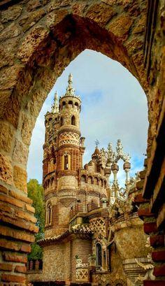 Colomares castle in Benalmadena, Andalusia, Spain