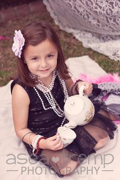 Tea party photo shoot for girls