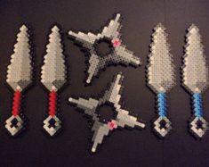 perler bead ninja star - Google Search