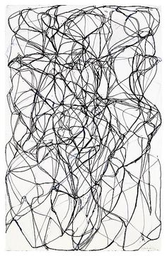 Brice Marden  Venus, 1990-91  Ink and gouache on paper (Arches Satine)  40 x 25 1/2 inches