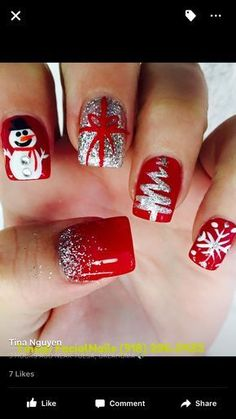 christmas nails 50 Gorgeous And Cute Christmas Square Nail Designs . , christmas nails 50 Gorgeous And Cute Christmas Square Nail Designs For The Coming Holiday - Page 42 of 50 - Chic Hostess. Check more at Cute Christmas Nails, Christmas Nail Art Designs, Holiday Nail Art, Xmas Nails, Winter Nail Designs, Winter Nail Art, Winter Nails, Fun Nails, Christmas Trees