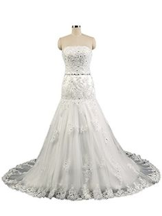 GL bridal Women's Mermaid Lace White Simple Cheap Wedding Dress US2 GL bridal http://www.amazon.com/dp/B01CZLPUJ2/ref=cm_sw_r_pi_dp_8k85wb0BK5QAR