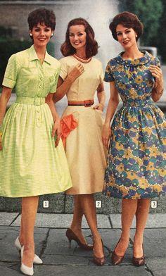 1960s Fashion: What Did Women Wear? 1960s Fashion Women, Sixties Fashion, Retro Fashion, 1950s Fashion Dresses, Vintage Fashion, 1950s Dresses, Vintage Glam, Vintage Beauty, Vintage Sewing
