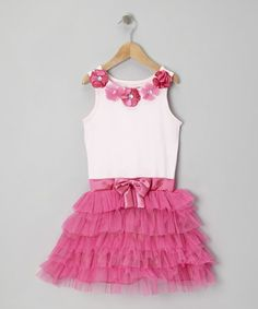 Take a look at this Pink & Pastel Pink Tutu Dress - Girls by Young Hearts on #zulily today!