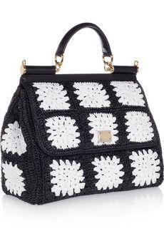 Dolce   Gabbana   bags   Crochet, Crochet handbags, Crochet purses 46fa5c73f5