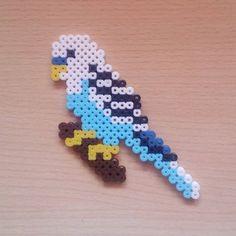 #Parakeet #Bird #Animal #Nature #Blue #HamaBeads #PixelArt