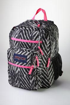 Jansport zebra print backpack, $49.99 at Bentley. School Fashion, Jansport, Street Chic, Zebra Print, Get The Look, Jasmine, Passion For Fashion, My Girl, Back To School