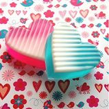 Soapylove Tutorial: Ombre Heart Soaps and more varieties. Very cute for gifts!