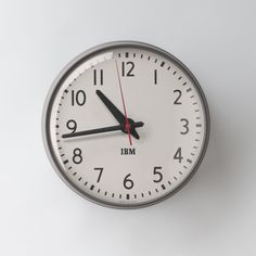 """1960s IBM 13.5"""" Standard Issue Clock 