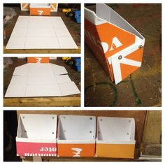 DIY tutorial to make some quick, easy, cheap, storage cubbies made from #coroplast #yardsigns.