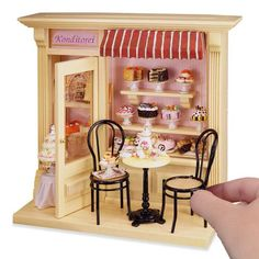 Complete Pastry Shop Shadow Box Display