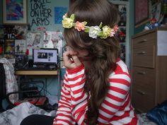 flower crown for princess tyler (: Messy Hairstyles, Pretty Hairstyles, Hair Inspo, Hair Inspiration, Tumblr Quality, Scene Hair, Dream Hair, Floral Hair, Hair Day