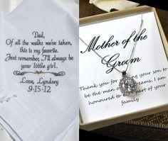 Ideias de lembranças para os pais dos noivos