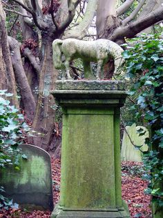 Highgate Cemetery- London, England (really worth clicking on and seeing the 46 photos....a wonderful one of a dog waiting for his master)
