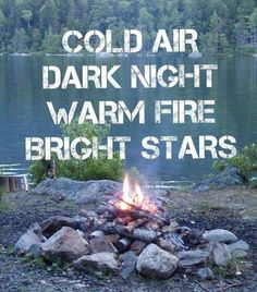 Ahhh...  Cold air, dark night, warm fire, bright stars...  About sums up camping for me! #camping #outdoors #campfire