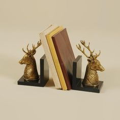 Maitland-Smith Pair of Sherwood Finished Cast Brass Deer Bookends Fine Furniture, Furniture Decor, Maitland Smith, English Style, Rustic Design, Bookends, Churchill, Accessories, Inspiration