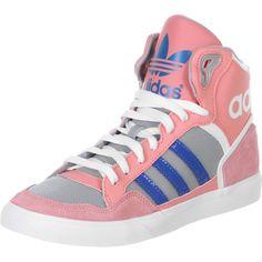 Adidas Extaball Sneaker in pink blau und grau. Lässiger geht's gar nicht, oder?
