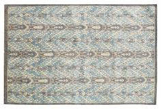 """9'x12' Carmen Rug, Aqua/Gray on OKL ($3,999 v. $11,100 retail) Origin: Pakistan Construction: handmade Made of: wool Pile height: 1/4"""" Color: aqua/gray Care: Professional clean only.  """"In a refreshing departure from characteristic bold colors, this handmade ikat rug comes in a tranquil palette of aqua and gray. To any design-industry aficionado or insider, """"Stark"""" is synonymous with luxurious, long-lasting, rugs, furniture, fabrics, and wallpaper."""""""