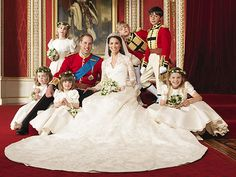 The Duke and Duchess of Cambridge with attendants