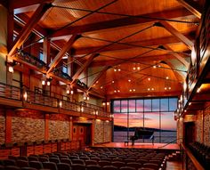 "May 2020 - Rockport Music presents concerts and cultural events in the ""stunning acoustics and dramatic setting"" (Boston Globe) of its new home, the Shalin Liu Performance Center. Rockport Music is best known. Public Architecture, Architecture Design, Amazing Architecture, Gypsy Living, Architectural Photographers, Concert Hall, Urban Design, Exterior Design, New England"