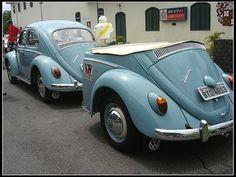 VW Käfer / Beetle with interesting trailer