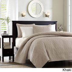 Madison Park Mansfield 3-piece Quilted Pattern Coverlet Mini Set | Overstock.com Shopping - The Best Deals on Quilts $74.99