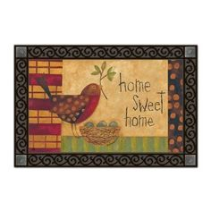 Mother Robin Matmate Doormat by Magnet Works, Ltd.. $21.99. Weatherproof outdoor doormats or use as indoor doormats.. Made with non-slip rubber. Vibrant colors, fade-resistant doormats.. Use MatMates Doormats alone or with the decorative tray (as shown).. MAIL16759 Features: -Material: Recycled rubber.-With a non woven polyester face.-Weatherproof.-For indoor/outdoor use.